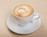 Cappuccino cup.coffee Images stock