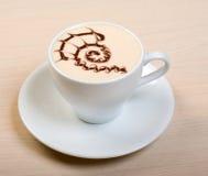 Cappuccino cup.coffee Imagen de archivo libre de regalías