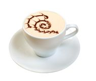 Cappuccino cup.coffee . Stock Photography
