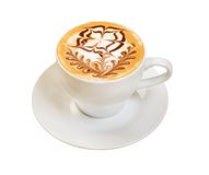 Cappuccino cup.coffee . Royalty Free Stock Photos