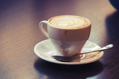 Cappuccino, cup of coffee with milk foam Royalty Free Stock Image
