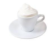 Cappuccino.Cup of coffee on a white background Stock Photography