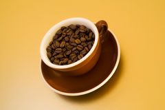 Free Cappuccino Cup Filled With Coffee Beans Royalty Free Stock Images - 7142359