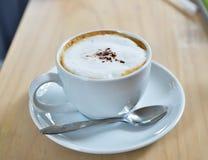 Cappuccino. A cup of hot cappuccino Stock Photos