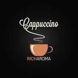 Cappuccino cup menu design background Royalty Free Stock Photography