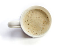 Cappuccino cup. Top view Royalty Free Stock Photo