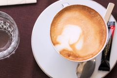 Cappuccino in a cup Royalty Free Stock Photo