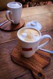 cappuccino cups två Royaltyfri Foto