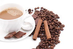 cappuccino czas Zdjęcia Stock