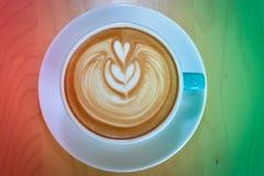 Cappuccino, czerwień i zieleń dla tła, Zdjęcie Stock