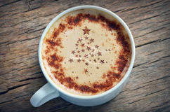 Cappuccino de la Navidad Foto de archivo libre de regalías