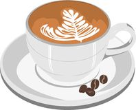 Cappuccino della tazza di caffè Fotografie Stock