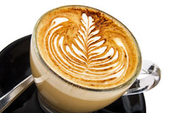 Cappuccino with design Stock Image