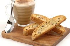 cappuccino dla biscotti Fotografia Stock