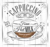 Cappuccino do cartaz ilustração royalty free