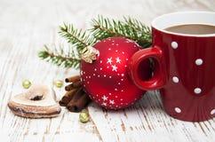Cappuccino do Natal Imagem de Stock Royalty Free