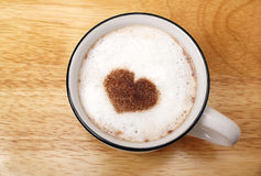 Cappuccino drink Stock Images