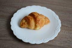 Cappuccino e croissant squisito Fotografie Stock