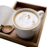 Cappuccino eller lattekaffe Royaltyfri Foto