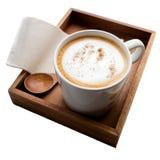 Cappuccino eller lattekaffe Arkivfoton