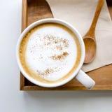 Cappuccino eller lattekaffe Royaltyfria Foton
