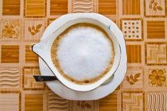 cappuccino empty Fotografering för Bildbyråer