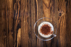 cappuccino empty Arkivfoton