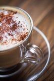 cappuccino empty Royaltyfria Bilder