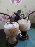 Cappuccino en Latte Royalty-vrije Stock Fotografie
