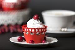 Cappuccino en muffin Royalty-vrije Stock Fotografie