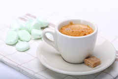 Cappuccino and eringue Stock Images
