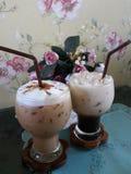 Cappuccino et Latte Photographie stock libre de droits