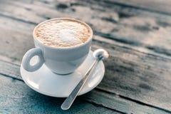 Cappuccino filiżanki zakończenie Zdjęcia Stock