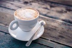 Cappuccino filiżanki zakończenie Fotografia Royalty Free