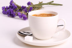 Cappuccino and flower Royalty Free Stock Photography