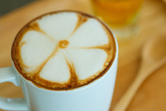 Cappuccino with foam Royalty Free Stock Images