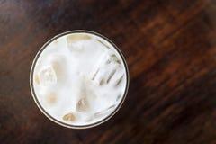 Cappuccino från överkant Royaltyfri Fotografi