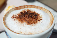 Cappuccino froth Royalty Free Stock Images