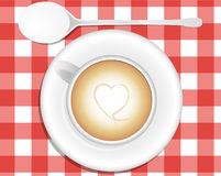 Cappuccino heart Royalty Free Stock Photo