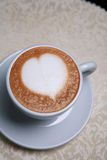 Cappuccino with heart design Stock Image