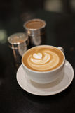 Cappuccino with heart pattern Stock Image