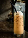 Cappuccino helado Café helado con leche Imágenes de archivo libres de regalías