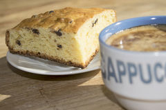 Cappuccino and homemade cake Royalty Free Stock Image