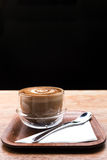 Cappuccino hot coffee in the cup Royalty Free Stock Photo