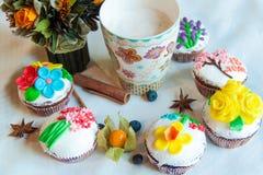 Cappuccino i ciasta Obrazy Stock