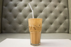 Cappuccino Iced Coffee Stock Photo