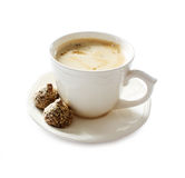 Cappuccino isolated on white Royalty Free Stock Photos