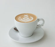Cappuccino with latte art Stock Photography