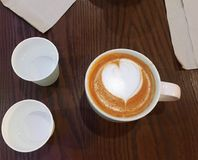 Cappuccino , Latte Royalty Free Stock Photography