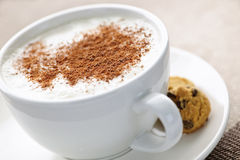 Cappuccino or latte coffee Stock Images